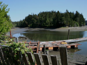 dock at low tide