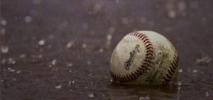 baseball in dirt