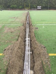 Trench with Electrical