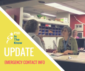 Update Emergency contact info