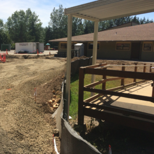 Construction at Elementary school