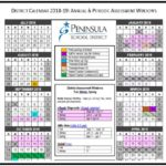 Annual Assessment Calendar