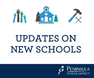 "poster that says ""updates on New Schools"""
