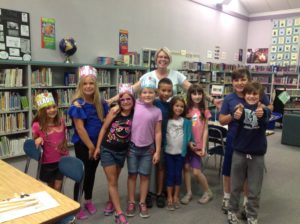 Mrs. Wilson with Students