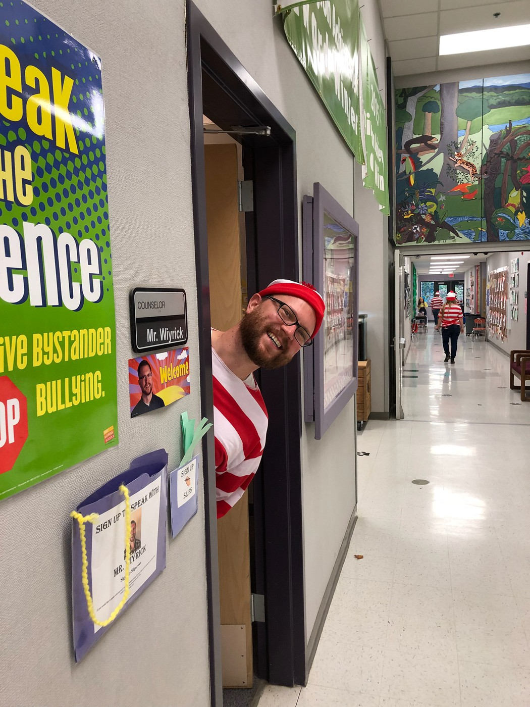 Mr Wiyrick as Where's Waldo