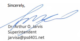 Dr Jarvis' Signature