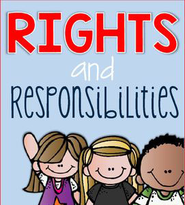 Rights and Responsibilities clipart
