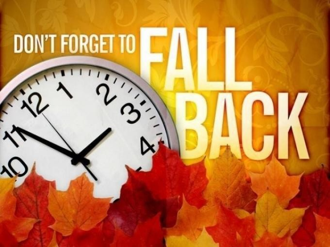 Fall Back 1 hour - clipart