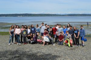KMS Students on beach