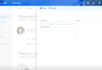 Picture of Contact List tool in Microsoft Outlook 365 Web