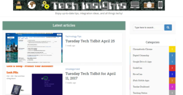 Picture of Tech Insights website