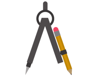 Compass and pencil