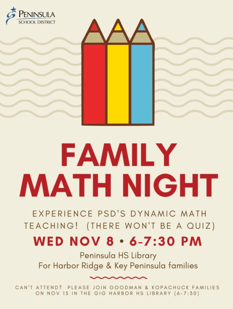 Family Math Night – Key Peninsula Middle School